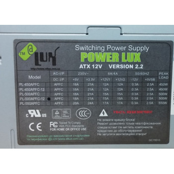 Блок питания LUX 500APFC 500W
