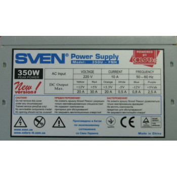 Блок питания Sven power supply 350U-FNH 350W