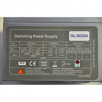 Блок питания SWITCHING POWER SUPPLY SL-500A 500W