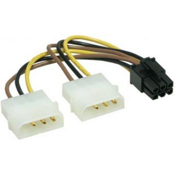 Переходник (адаптер) Molex 4-pin 6-pin PCI-E Y Power Adapter Cable
