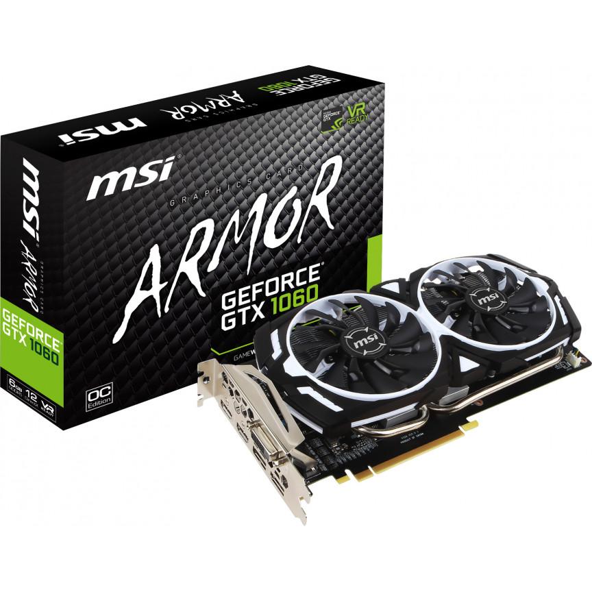 Видеокарта MSI GeForce GTX1060 6144Mb 192-bit GDDR5 ARMOR OCV1 (GTX 1060 ARMOR 6G OCV1)
