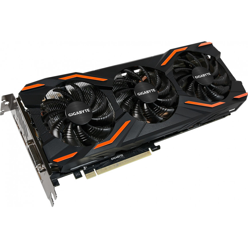 Видеокарта Gigabyte GeForce GTX1080 8Gb 256bit GDDR5X Windforce OC (GV-N1080WF3OC-8GD)