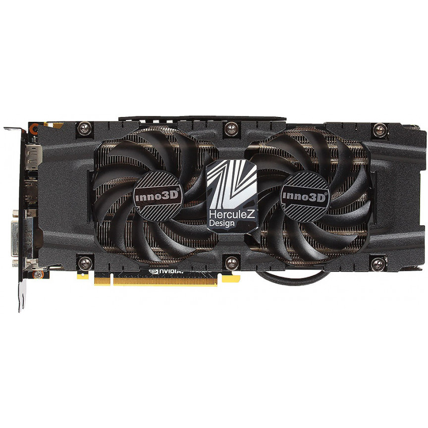 Видеокарта Inno3D GeForce GTX1080 8Gb 256bit GDDR5X HerculeZ TWIN X2 (N1080-1SDN-P6DN)