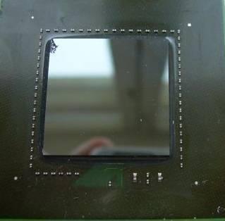 Скол кристалла видеокарты
